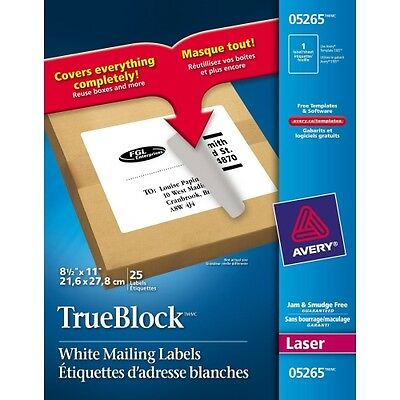Avery Address Label With Smooth Feed Sheets 05265