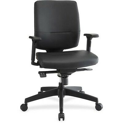 Lorell Adj. Arms Leather Exec. Mid-back Chair 84581