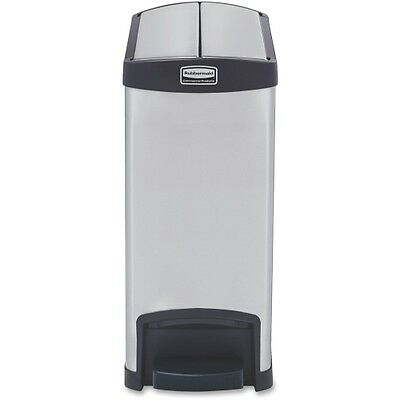 Rubbermaid Commercial 1901986 Slim Jim Step-on - 30L/8G Stainless Steel 1901986