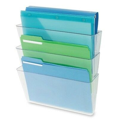 Deflect-o Three Pack Stackable Letter Wall Pocket 73601RT