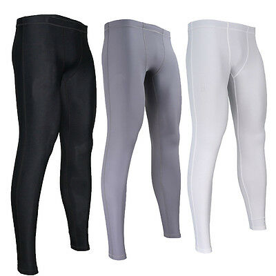 Men Trousers Fitness Compression Base Under Layer Pants Running Tights UK Stock