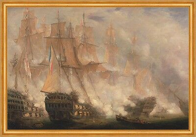 The Battle of Trafalgar John Christian Schetky Segelschiffe Schlacht B A2 02604