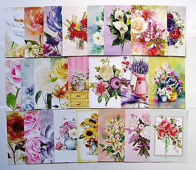 Hunkydory Little Book of Fabulous Florals Toppers x 24 Sheets