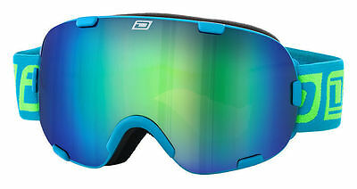 Dirty Dog 54153 Afterburner Adult Snow ~ Ski Goggles Blue/blue Green Fusion Lens