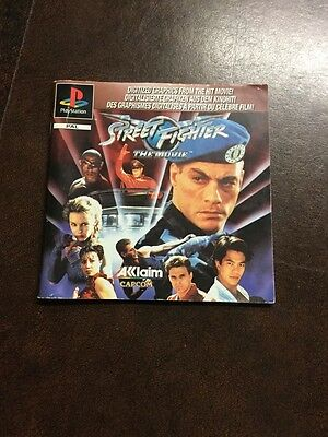Ps1 Street Fighter The Movie -  Manual Only - Bargain