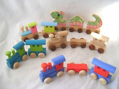 New Personalised Wooden Letters Train Name Gift Legler Train Parts Options