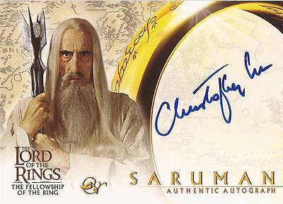 """Lord of the Rings Fellowship - Christopher Lee """"Saruman"""" Autograph Card"""