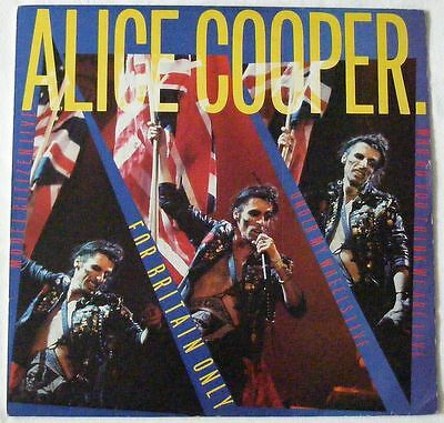"""ALICE COOPER UK 1982 12"""" Single WHO DO WE THINK WE ARE For Britain only DISC=EX+"""