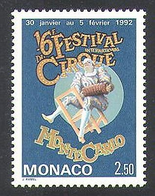 Monaco 1992 Clowns/Circus/Festival/Animation/People/Music 1v (n37980)