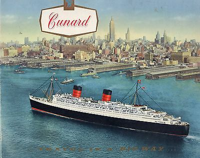 Cunard White Star line brochure,  15 pages about the ships