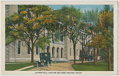 Luther Hall, Baylor College, Belton, Texas