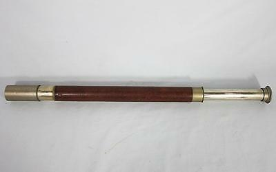 FINE VINTAGE SHIPS OFFICERS TELESCOPE by ROSS 1900 SHIP BOAT YACHT ROYAL NAVY