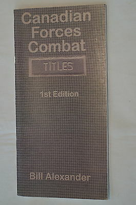 Canadian Forces Combat Titles Reference Book