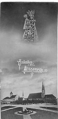 """OLD nice rare  german Holy cards from 1910 """"H7693"""" holy black madonna altötting"""