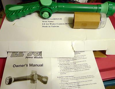New AS SEEN ON TV! EZ JET WATER CANNON NOZZLE PRESSURE CLEANING 8 FN SPRAY GUN
