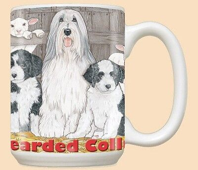 15 oz. Ceramic Mug (PS) - Bearded Collie MU970