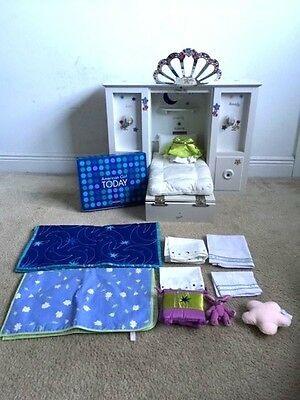 American Girl 3-In-1 Murphy Bed Jeweled Tiara Bedding Set Accessories Retired Ex