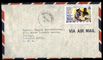 November 14, 1973 Dominica Airmail Cover To Chicago Illinois