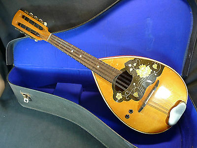 Good Quality Vintage Mandolin Semi Flat Back With Original Case