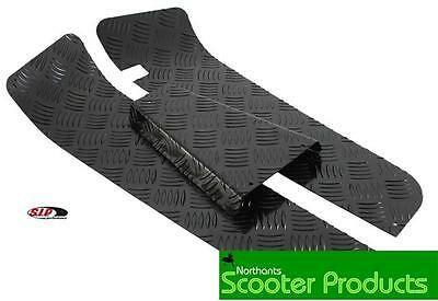 Sip Vespa Px T5 Alloy Black Checker Floor Mat Plate Set Of 3 Checkerplate