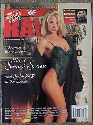 Wwf Raw Magazine November December 1996 Wrestling Wwe Sunny Cover Tammy Sytch