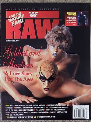 Wwf Raw Magazine March April 1997 Wrestling Wwe Goldust Marlena Figures Attitude