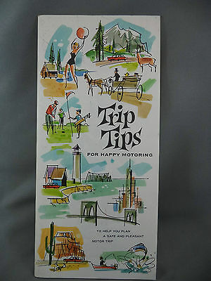 Trip Tips For Happy Motoring Planning Guide Advertising Illus. Esso