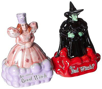 Oz Good Witch Bad Witch Magnetic Ceramic Salt and Pepper Shaker Set
