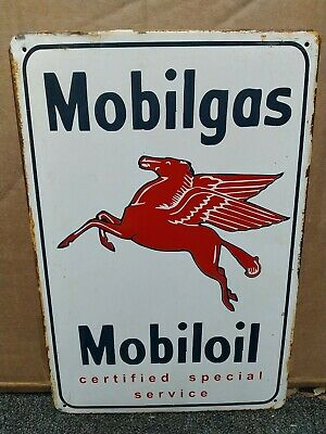 MOBIL MOBILGAS/ OIL, PEGASUS  VINTAGE-STYLE METAL WALL SIGN 30x20cm/ 12x8 inches