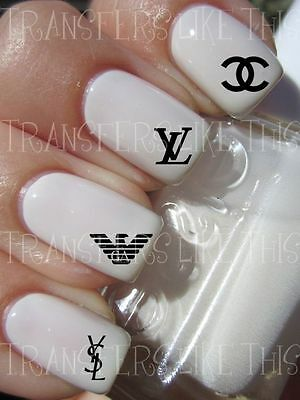 DESIGNER LOGOS 30 Stickers ongles manucure nail art water décal