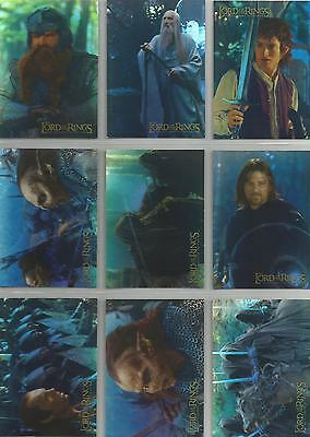 Lord of the Rings Fellowship of the Ring - 10 Card Prismatic Foil Chase Set