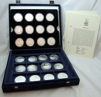 Trafalgar Bicentenary 24 Solid Silver £5 Coins ROYAL MINT STRUCK Cased with COA