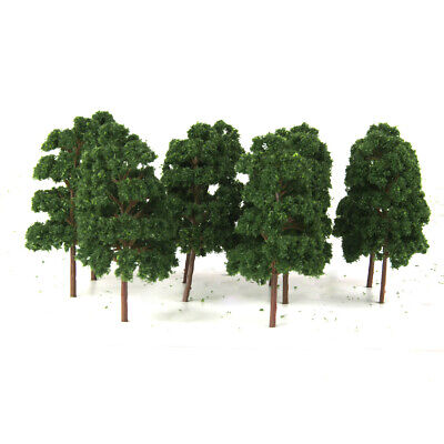 10pcs HO SCALE Model Train Layout Trees Railroad Wargame Diorama Scenery