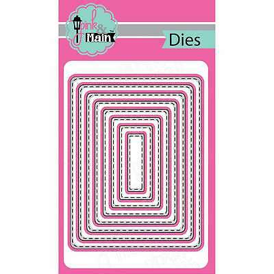 Pink And Main Dies Stitched Rounded Rectangles, 8/Pkg 812842022177