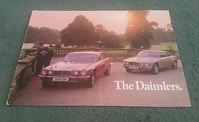 1973 1974 DAIMLER UK FOLDER BROCHURE Sovereign Double Six Two Door Coupe 4.2 5.3
