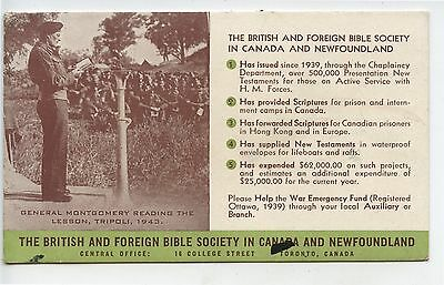 Old Advertising Blotter British Foreign Bible Society Canada Newfoundland