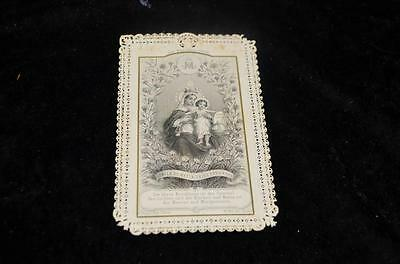 """OLD nice german rare LACE Holycards from 1900""""H7721"""" holy maria"""