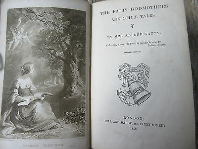 Antique 1858 Children's Book The Fairy Godmothers & Other Tales