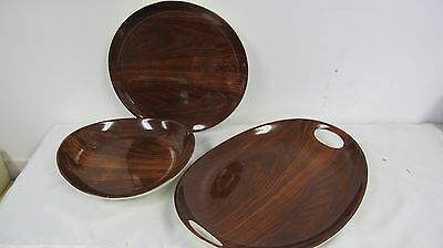 Pier 1 Dolomite Serving Pieces Large Platter Chop Plate Bowl Brown 3 Pcs