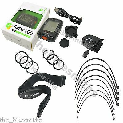 Bryton Rider 100T Wireless GPS Cycling Bike HRM Computer Heart Rate Cadence 36F