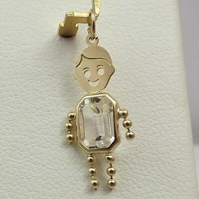 little gold and baby pendant boy charm solid girl