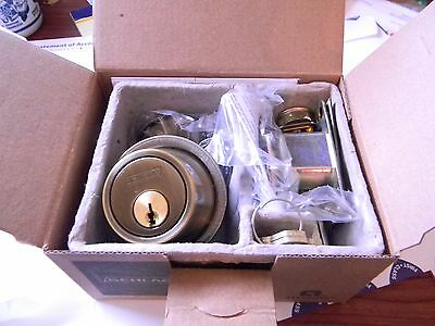Schlage Everest B560P EV 609 Antique Brass Single Cylinder Deadbolt