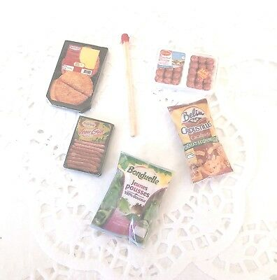 Miniature Aliment Factice Maison Poupée Vitrine Dolls House packet Food kitchen