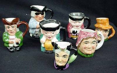 LOT Collection 7 Seven ARTONE England Miniature Mini Toby Jug Head Face