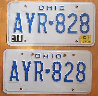 Ohio 1983 License Plate PAIR # AYR-828