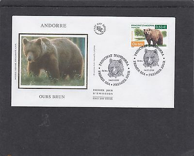 Andorra French 2006 Brown Bear First Day Cover FDC Andora pictorial fdi h/s