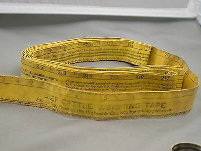 Beef Cattle Weighing Tape Highsmith Co Fort Atkinson Wisconsin Farming Tool
