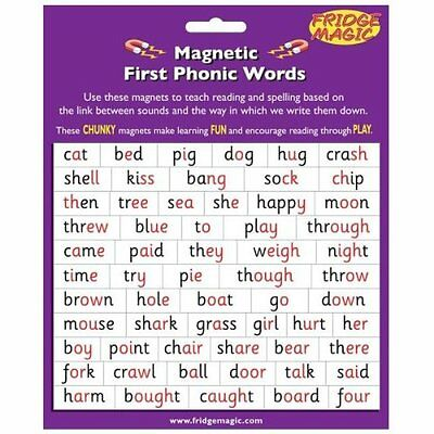 Fridge Magic Magnetic First Phonic Words / Literacy Strategy words m3