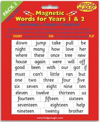 Magnetic Words for Years 1 & 2 Pack 2 National Literacy Strategy Magnet m11