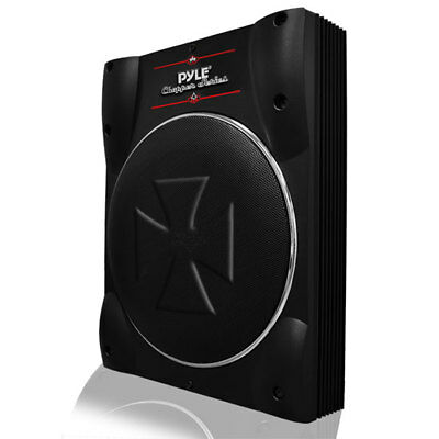 Pyle PLBASS10 10-Inch Low-Profile Super Slim Active Amplified Subwoofer System